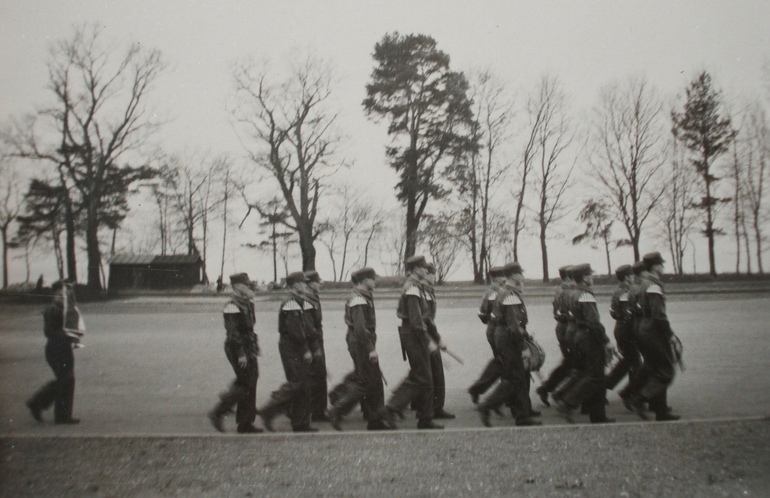 Hitler Youth Members Marching