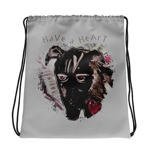 Save Animals / 2 N 1 / Drawstring Bag / Grey