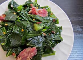 Collard Greens with Bacon and Garlic