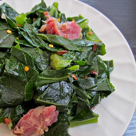 Collard Greens with Bacon and Garlic