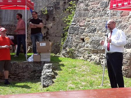 Martin Schulz auf dem Familienfest