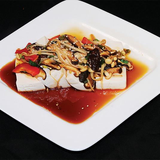 Soft Tofu & Assorted Mushrooms