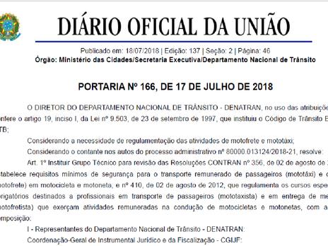 Fetramoto solicita a inclusão de seus representantes no grupo técnico do DENATRAN para discussão da