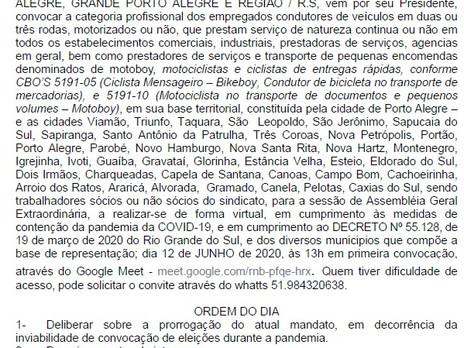 EDITAL DE CONVOCAÇÃO ASSEMBLÉIA GERAL EXTRAORDINÁRIA.