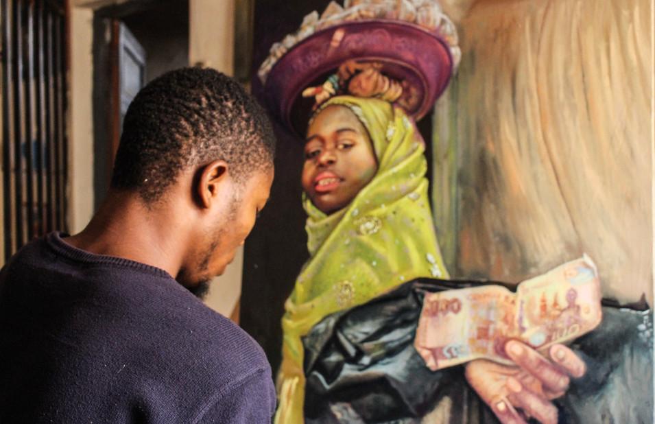 "Ayogu Kingsley painting ""HEREDITARY"""