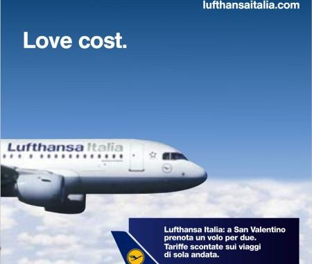 Valentine day offer by Lufthansa. OOH Advertising