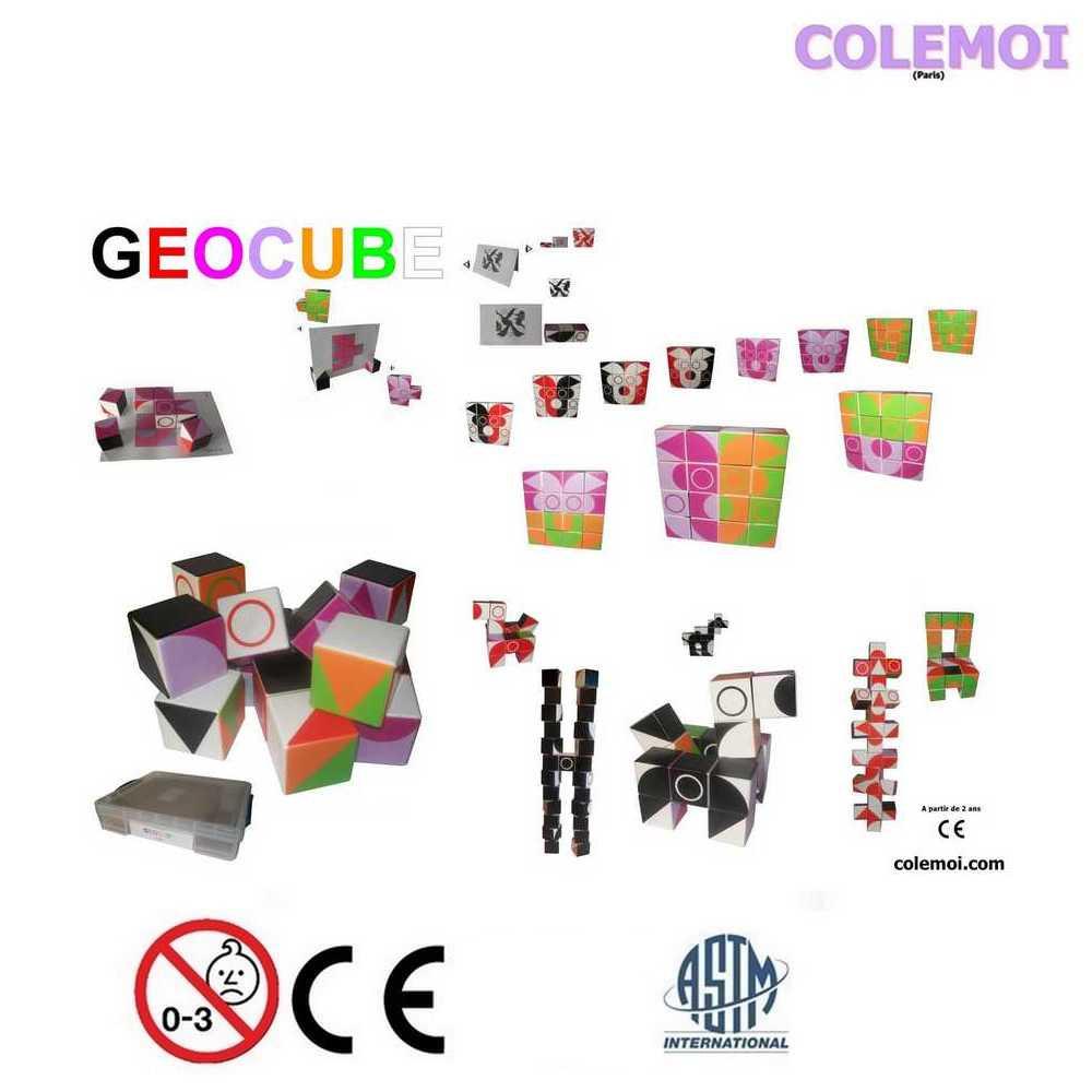 Géocube: 25 cubes magnétiques multipositionnables