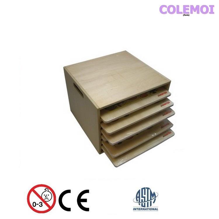 Boite et tablette en bois label FSC
