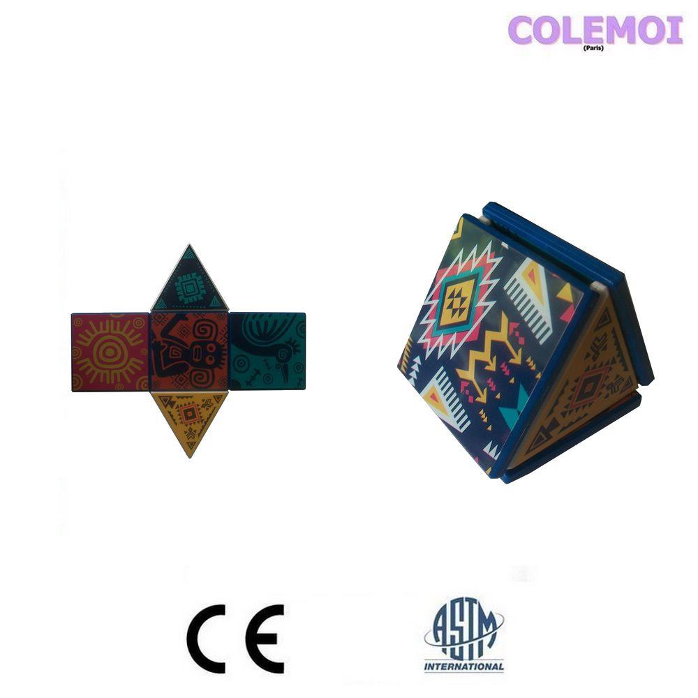 Exemple d'assemblage avec les tuiles magnétiques mutlipositionnables