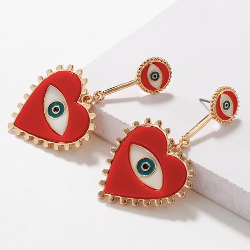 Heart of War Earrings