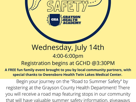 """Upcoming Event """"Road to Summer Safety"""""""