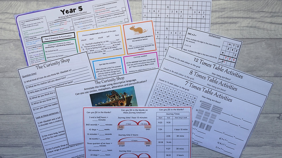 Year 5 Learning Pack