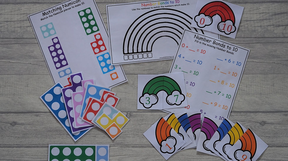 Number Bonds to 10 - Activity Pack