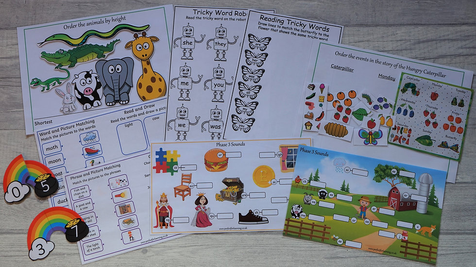 Reception Learning Pack Phase 2 Phonics