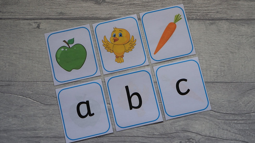 Double-sided Alphabet Flashcards