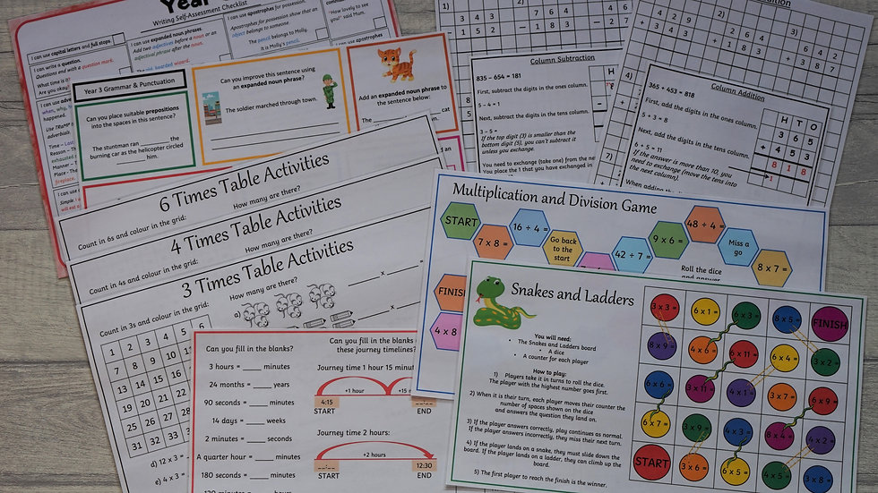 Year 3 Learning Pack