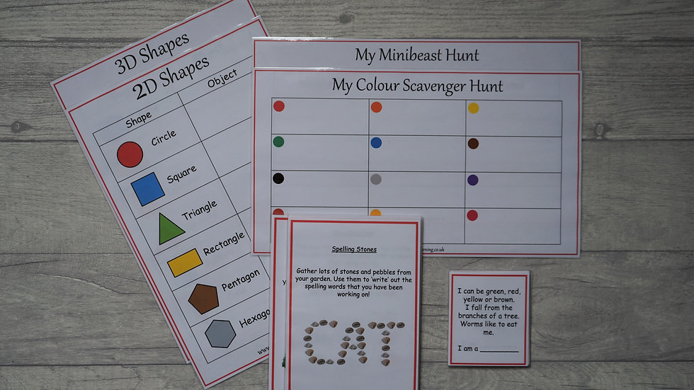Outdoor Learning Pack - Reception/EYFS