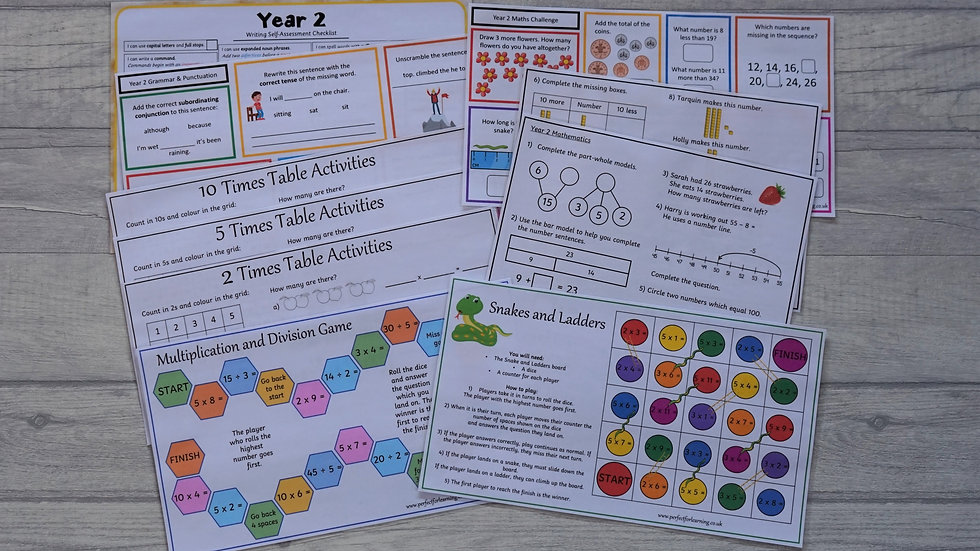 Year 2 Learning Pack