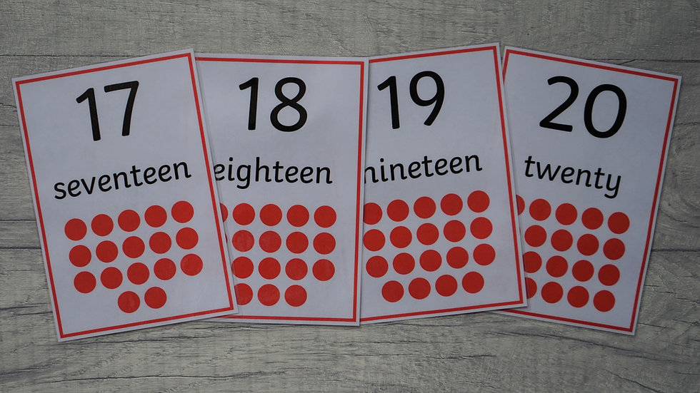 Large Number Flashcards 1-20