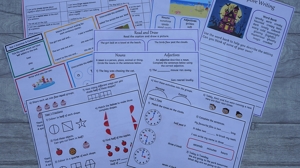 Year 1 Learning Pack