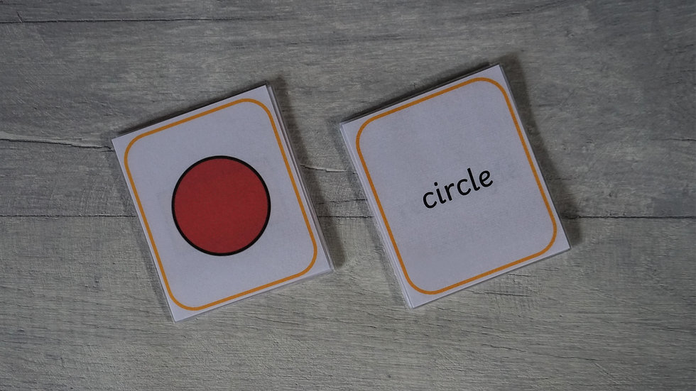2D Shapes Matching Flashcards