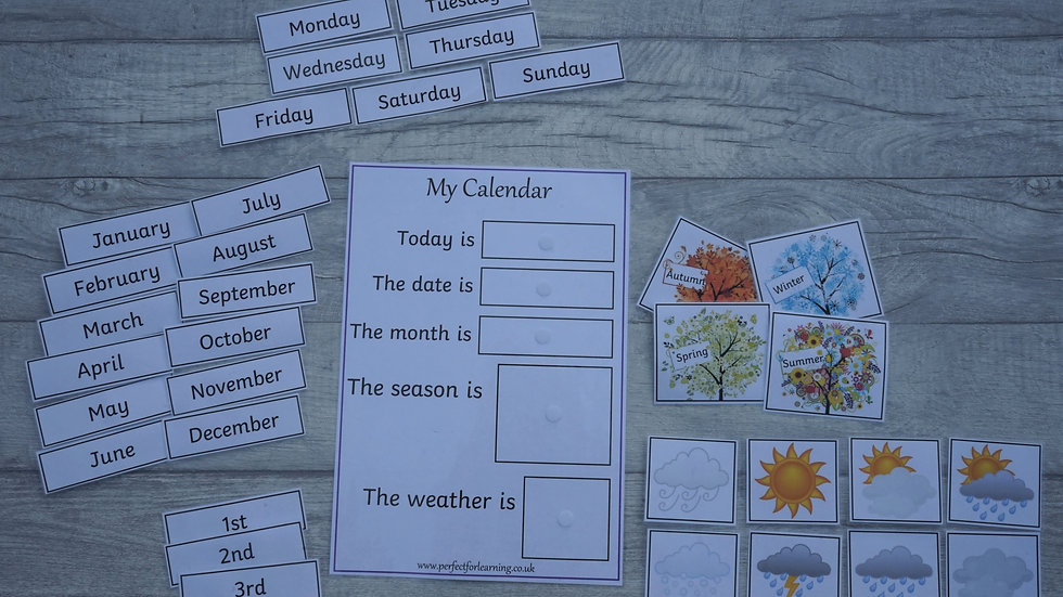 Perfect For Learning Daily Calendar