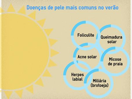 As 7 principais doenças de pele típicas do verão