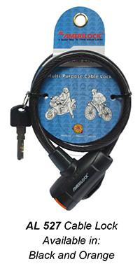 527 Cable Lock (Black and Orange)