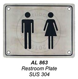 863 Restroom Plate
