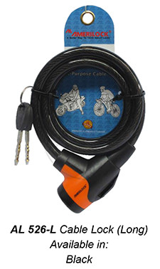 526-L Cable Lock Long (Black)