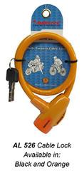 526 Cabe Lock (Black and Orange)