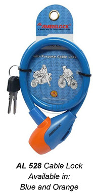 528 Cable Lock (Blue and Orange)