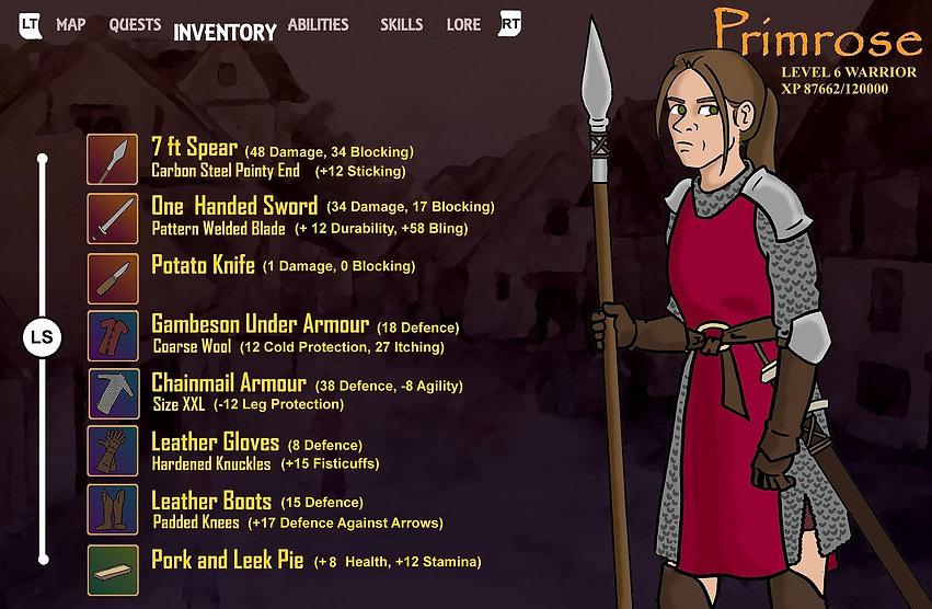 Primrose's inventory