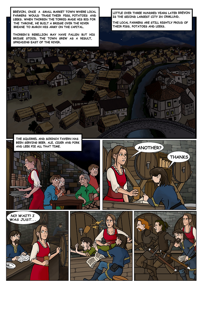 Page 1 Our story begins in a tavern