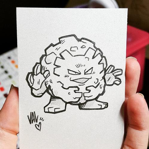 #075 - Graveler - Pokemon Art Card