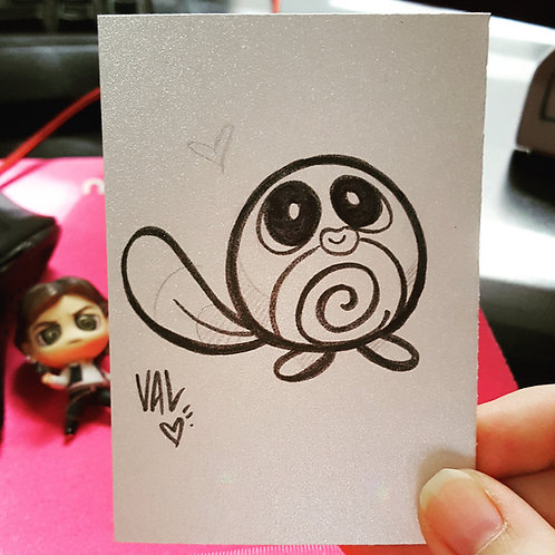 #060 - Poliwag - Pokemon Art Card