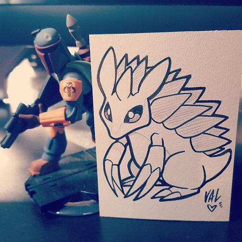 #028 - Sandslash - Pokemon Art Card