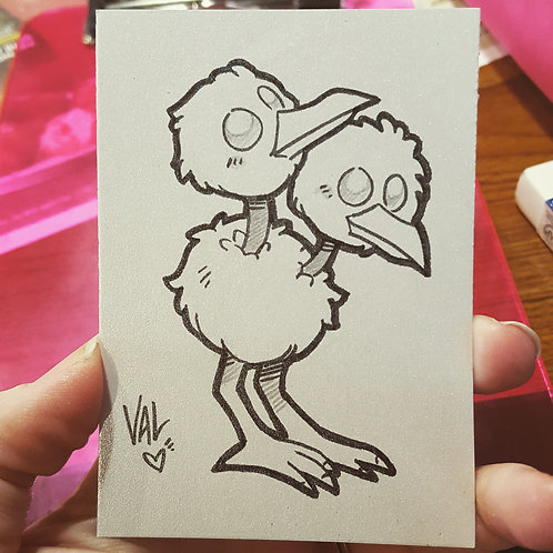 #084 - Doduo - Pokemon Art Card