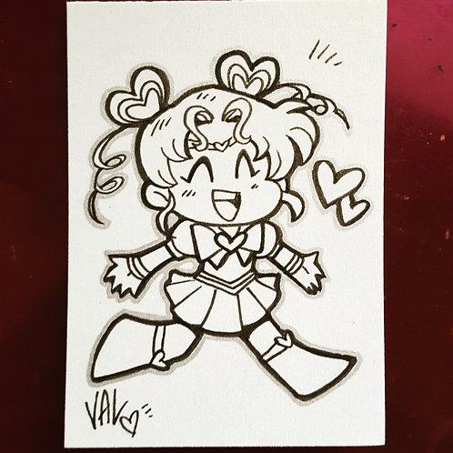 Sailor Chibi Chibi Moon - Daily Doodle