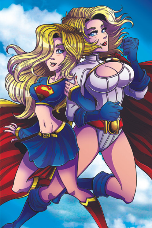 Supergirl & Powergirl - Mini Print
