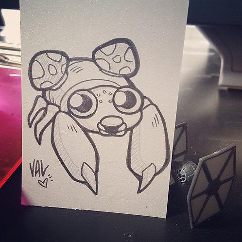 #046 - Paras - Pokemon Art Card