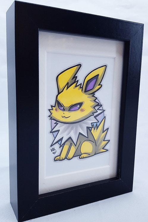 Jolteon - Framed Original Art