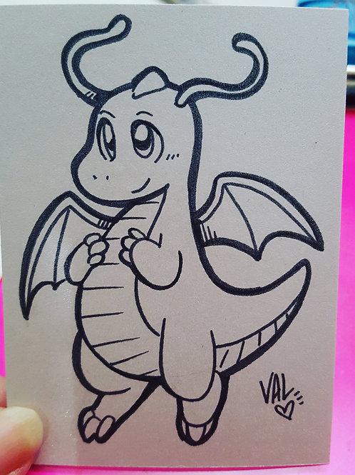 #149 - Dragonite - Pokemon Art Card