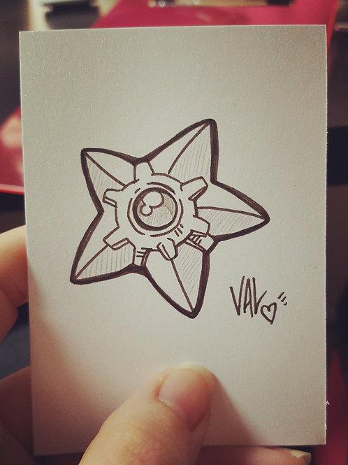 #120 - Staryu - Pokemon Art Card