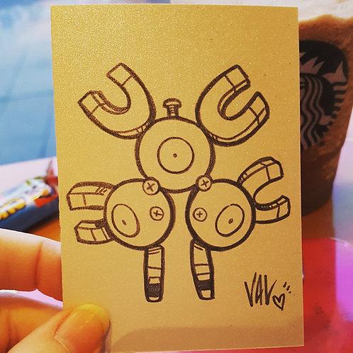 #082 - Magneton - Pokemon Art Card