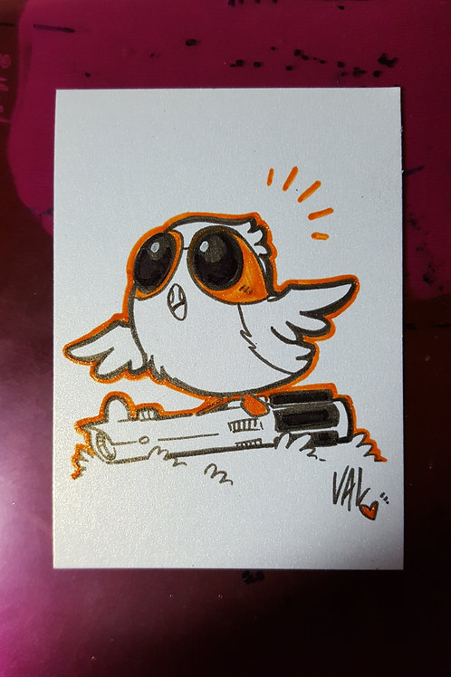 Porg with Lightsaber - Daily Doodle