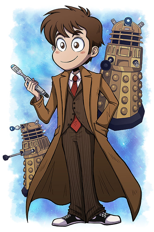 The 10th Doctor - Large Print