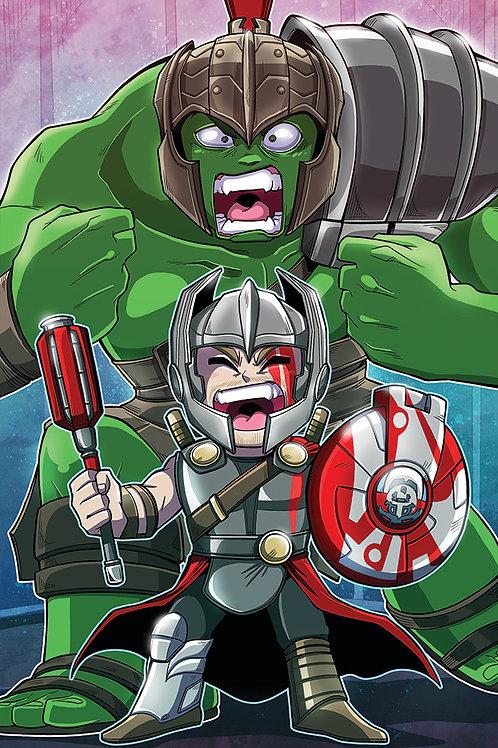 Hulk & Thor - Mini Print