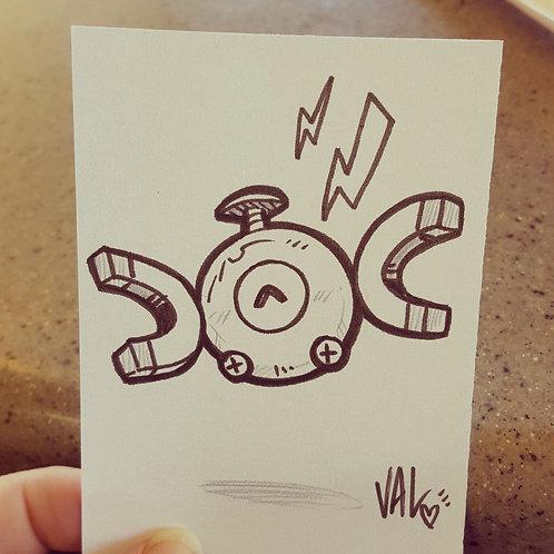 #081 - Magnemite - Pokemon Art Card