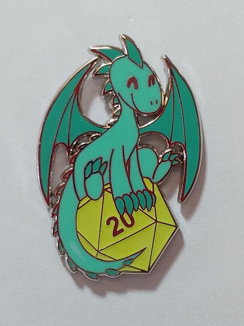 D20 Dragon - D&D - Enamel Pin